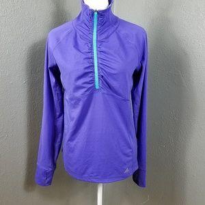 Adidas climalite Purple Jacket M Pullover 1/4 Zip